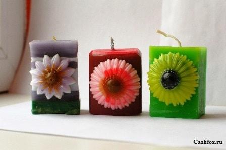 декоративные свечи на дому